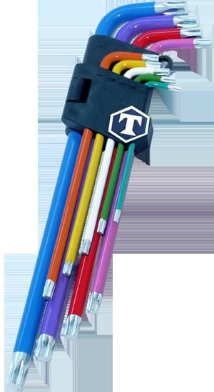 Farbige Torx T-Profil Winkel Schraubendreher Werkzeug Set T10 T50 TP969 9 tlg